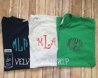 Short Sleeve Monogrammed T Shirt
