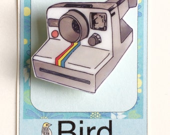 Polaroid Camera Pin Brooch