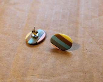 1980s Sherbet Stripes Earrings