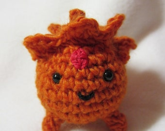Crochet Pattern - Flame Prince as a Fire Booger