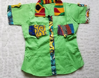 Ankara Shirt/Ankara Top/Ankara Blouse/Ankara Wear