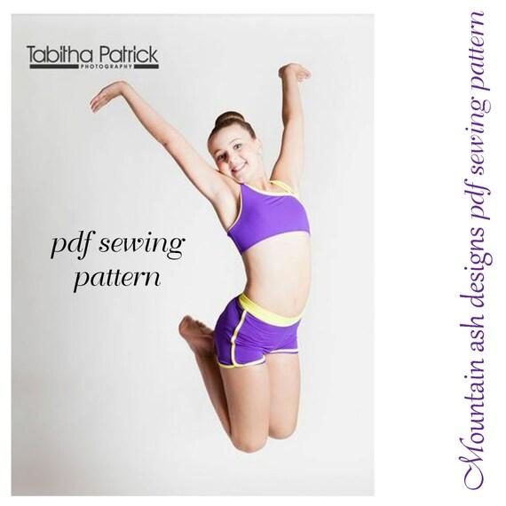 Dance Pattern Alana pdf sewing pattern gymnastics & dance singlet ...