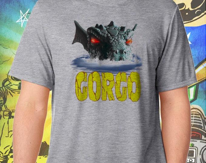 GORGO / Britain's Godzilla / Men's Gray Performance T-Shirt