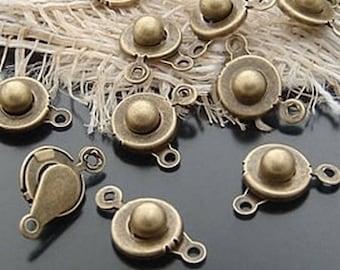 Snap closure bronze finish jewelry 17mm