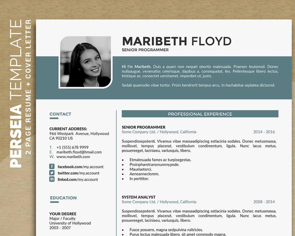 Professionellen Lebenslauf Vorlage Word / CV Vorlage kreative