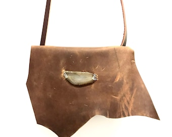 Brown Leather Crossbody, Crossbody Bag, Brown Handbag