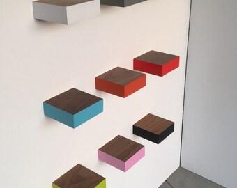 Floating shelves - walnut - Modern Shelves - Wall Shelf - Book Shelf - Wood Shelf