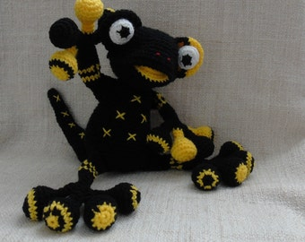 Crochet Mercuria goddess of fire salamander