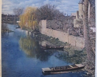 1950s Vintage French Travel Poster, Val de Loire - Molinard