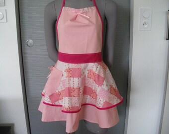 tablier de cuisine femme chic,tablier rétro, tablier fait main unique ,tablier pin up ,blouse ,cadeau