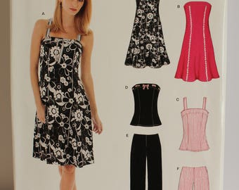 New Look Simplicity 6468 Dress, Top, Pants, Shorts sizes 6-16