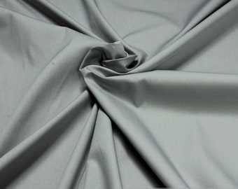Fabric cotton Poplin grey cotton grey