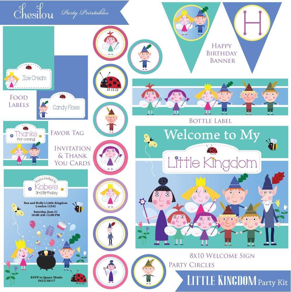 Customized Ben & Holly\'s Little Kingdom Digital Printable