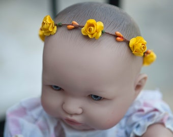 Baby yellow flower Crown