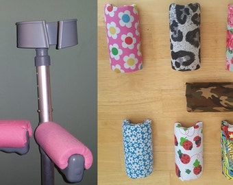 GIRLS Padded Crutch Handle Covers - ANY COLOUR! Adult & Child Sizes Available