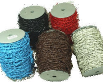 Barbed Wire Leather Cord  10 M Spool/Hank