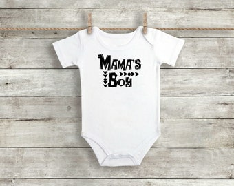 Mama's Boy Onesie - Baby Boy Clothes - Baby Boy Outfit - Newborn Outfit - Coming Home Outfit -  Baby Shower Gift - Going Home Boy Outfit