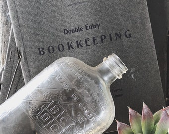 Grey Bookkeeping Journal || Old Books || Accounting || Office Style || Office Decor
