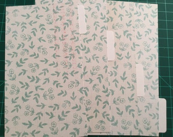 Shabby Chic Rustic Teal and White Planner Dividers for Personal Kikki K, Filofax, Webster's Pages Color Crush Planner