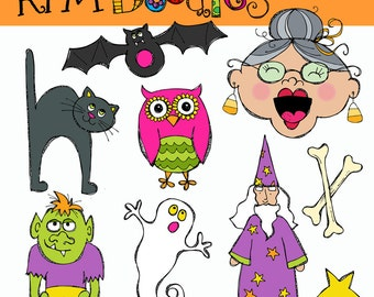 KPM Old lady who swallowed a Bat Digital Clipart COMBO