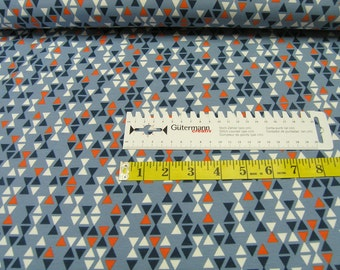 Jersey •  small triangles • jeans • Cotton Jersey Knit Fabric 0.54yd (0,5m) 002594