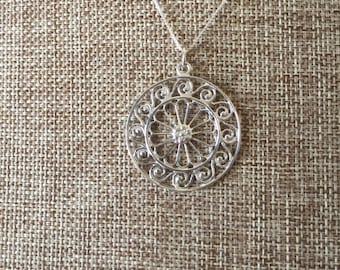 Sterling silver Charleston Gate Jewelry City Hall Pendant (925)