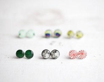 Tiny Stud earring set of 3 pairs, Earring stud set, Everyday Earrings, Gift for sister Small earrings set, Gift for girlfriend, Gift for her