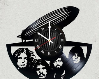 LED ZEPPELIN BaNd Music 12 inch / 30 cm WAll CLOCK gift for kids Rock music band gifts for boys Vinyl wall clock gifts for men