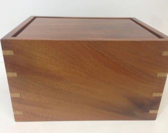 African mahogany urn