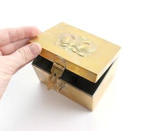 Vintage Brass Box, Jewelry Box, Gift Box