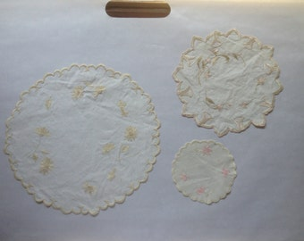 Vintage Embroidered Doilies
