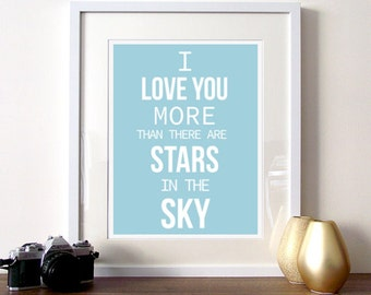 Stars quote print, Love quote poster, Typographic Print, motivational quote, quote art print, inspirational quote