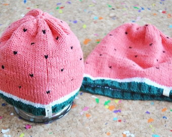 Watermelon Hat / For Baby or Kid / 0-6 Months // 6-12 Months // 12-24 Months