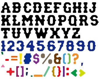 ID: CF00009; Fashion Font Vinyl Adhesive Letters, Any Size and Color, Any Combination of Letters and Characters (Priced Per Letter)