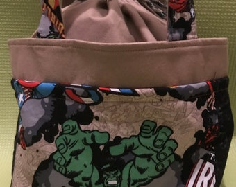 Hulk & Thor Drawstring Lunch Bag
