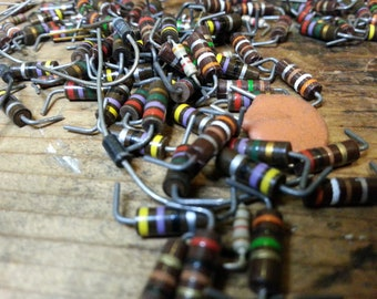 Vintage Resistors Diodes Capacitors Project Supplies Steampunk Art Supplies Electronics Altered Art Jewelry Making Industrial Art Supplies
