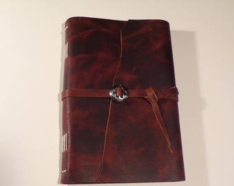 Oil Tanned Leather Wrap Around Signature Journal