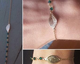 Fine and original bracelet with swarovski pearls