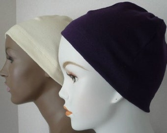 Ladies Soft Sleep Caps Cancer Chemo Scarf Liner Cap Hat Cotton Poly Blend