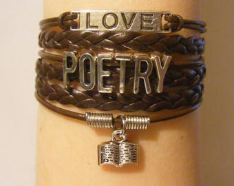 Poetry bracelet, poetry jewelry, poems bracelet, poems jewelry, gifts for poetry lovers, fashion bracelet, fashion jewelry, book bracelet