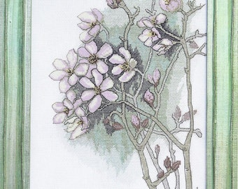 Cross Stitch Kit Forest rosemary