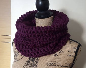 Cowl Scarf, Snood Scarf, Chunky Cowl, Crochet Cowl, Women's Cowl, Modern Cowl, Chunky Neckwarmer, Fall Winter Accessories, Gift for her