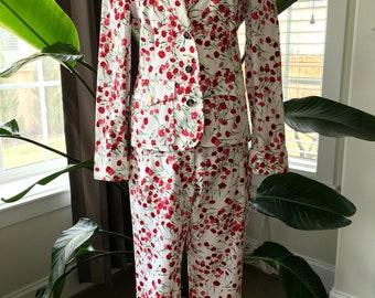 Dolce & Gabbana Floral Pant Suit