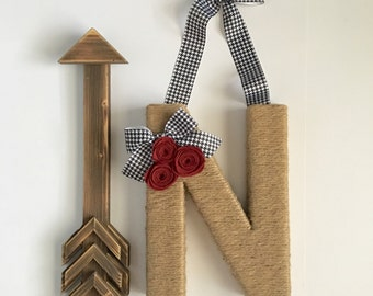 Clearance - Houndstooth Monogram Wreath