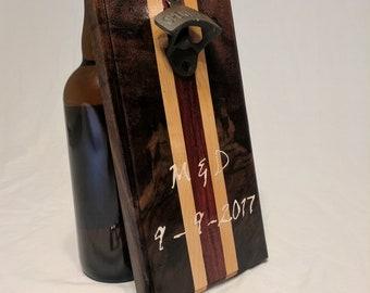 Woodturned bottle openner