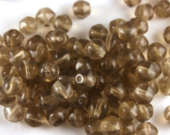 24x Vintage Glass Five Round Point Beads - B005