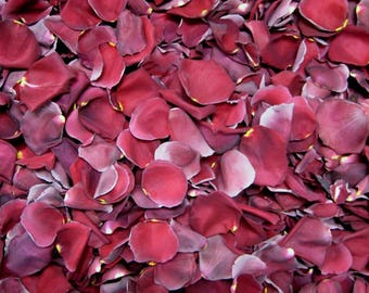Freeze Dried Rose Petals, Burgundy, 30 cups of REAL rose petals, perfectly preserved