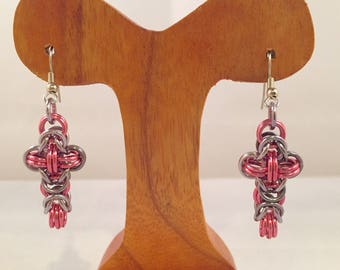 Byzantine Cross Earrings