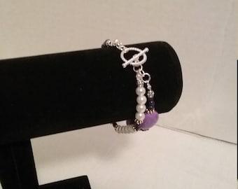 2 strand  strech bracelet