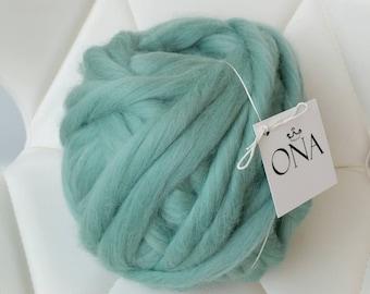 Giant yarn 500g xxl chunky merino wool hand spun arm knitting